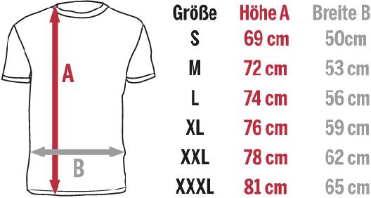 Motocross-Shirts für Herren - Größentabelle