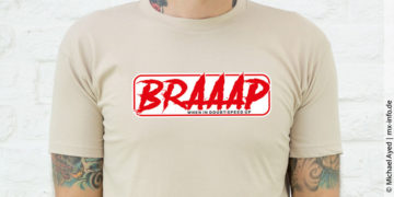 Braaap | Motocross-Shirt für Männer und Frauen
