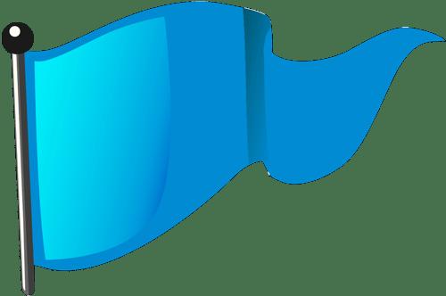 Blaue Flagge (geschwenkt)