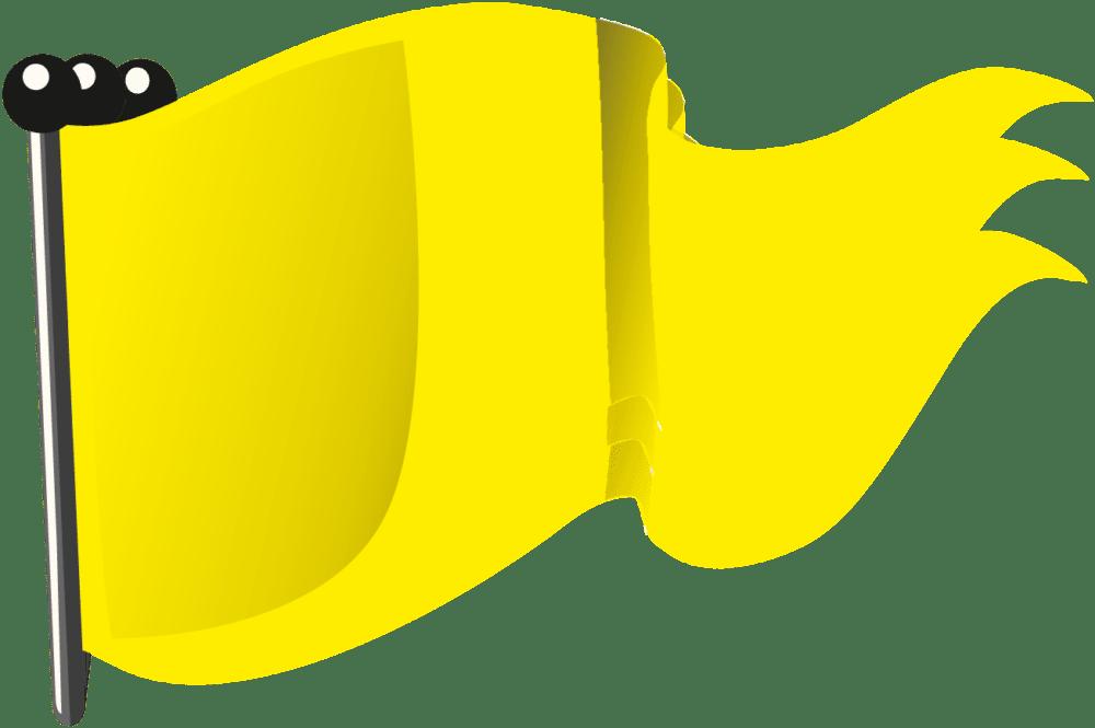 Gelbe Flagge (geschwenkt)