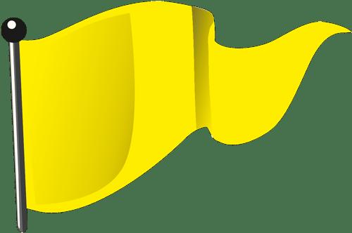 Gelbe Flagge (stillgehalten)