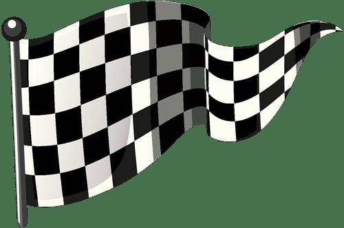 Schwarz-weiß-karierte Flagge