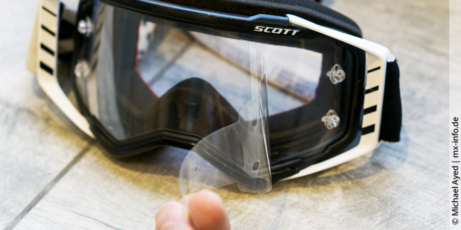 Motocross-Brille: Tear Off´s (Abreissvisiere)