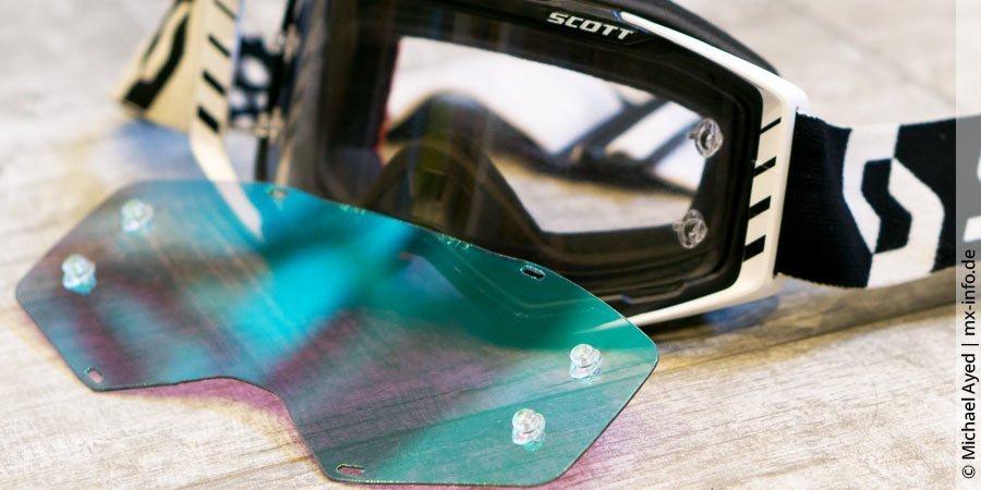 Motocross-BrillenGläser: Klar und verspiegelt