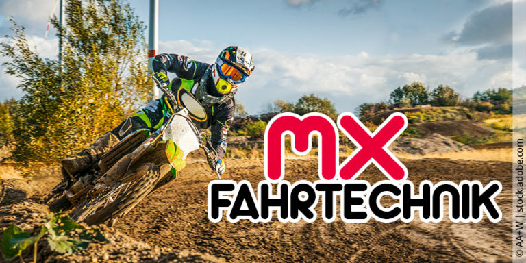 Fahrtechniken beim Motocross