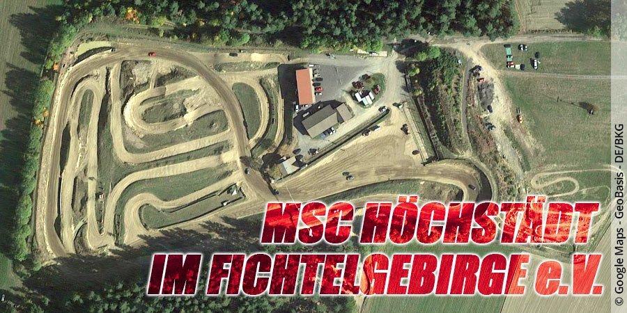 Motocross-Strecke MSC Höchstädt im Fichtelgebirge e.V. in Bayern